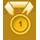1e Plaats medaille